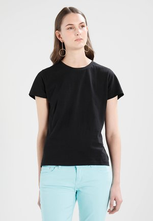 SOLLY TEE SOLID - T-shirt basique - black