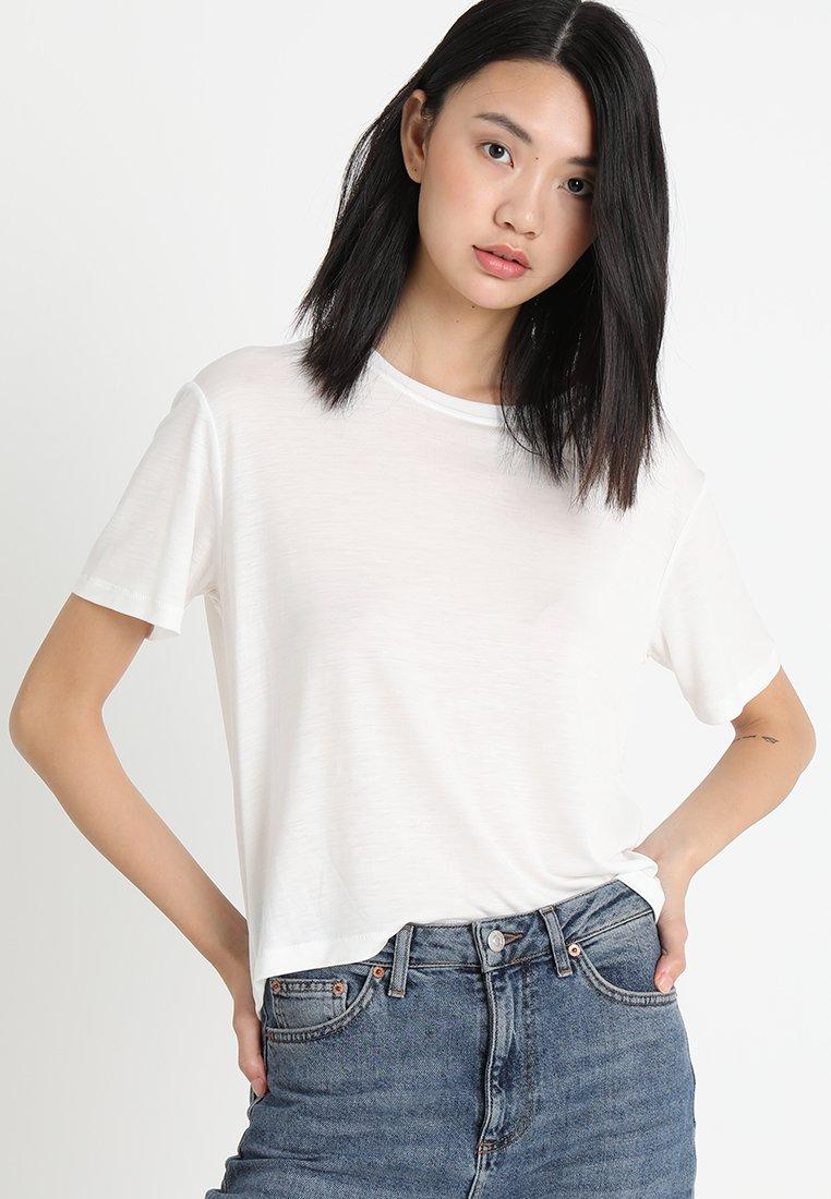 Samsøe Samsøe - UTA  - T-shirt basic - clear cream