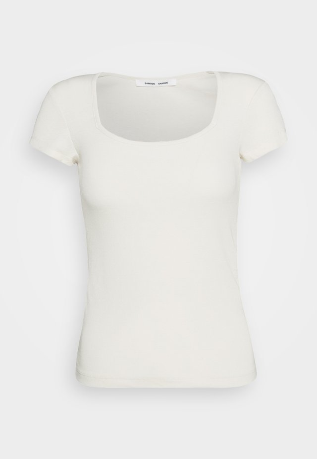 CLIO - T-shirt basic - warm white