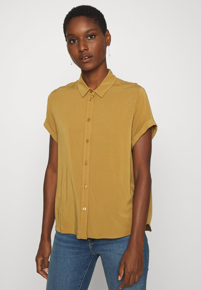 MAJAN - Button-down blouse - dijon