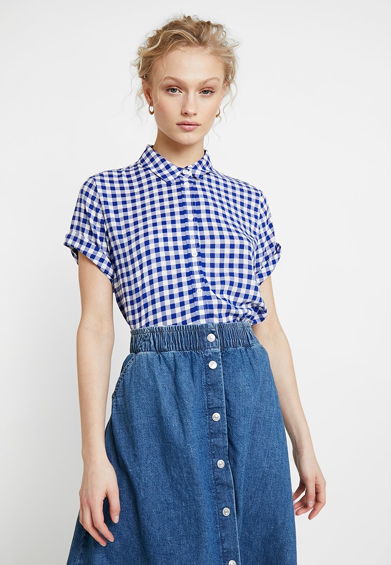 Samsøe Samsøe - MAJAN - Button-down blouse - blu cubetto