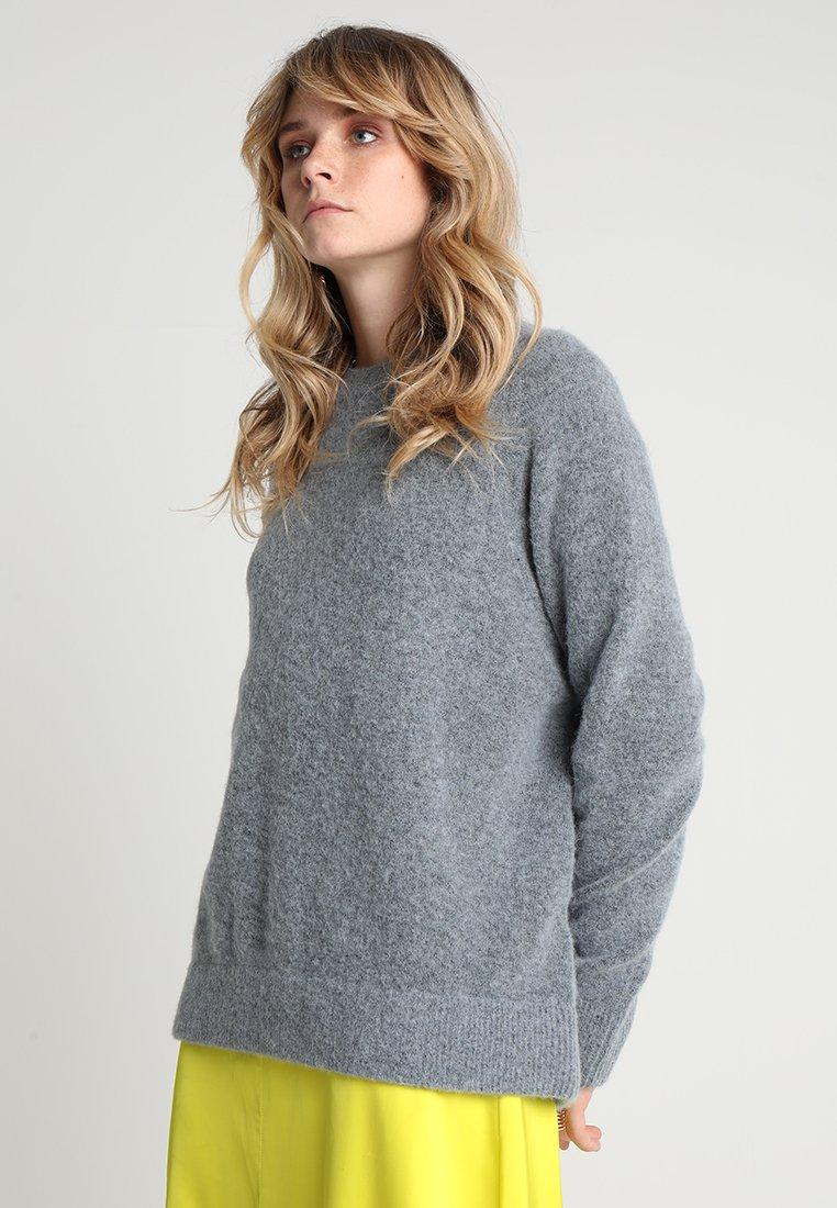 Samsøe & Samsøe - NOR LONG - Sweter - dustyblue