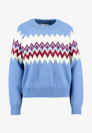 VIREN CREW NECK - Strikpullover /Striktrøjer - blue bonnet