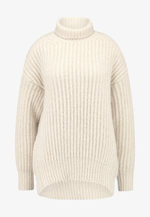 TURTLENECK - Jumper - white asparagus melange