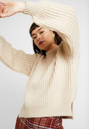 DONA CREW NECK - Sweter - beige