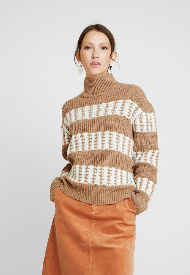 MONA TURTLENECK - Jumper - khaki