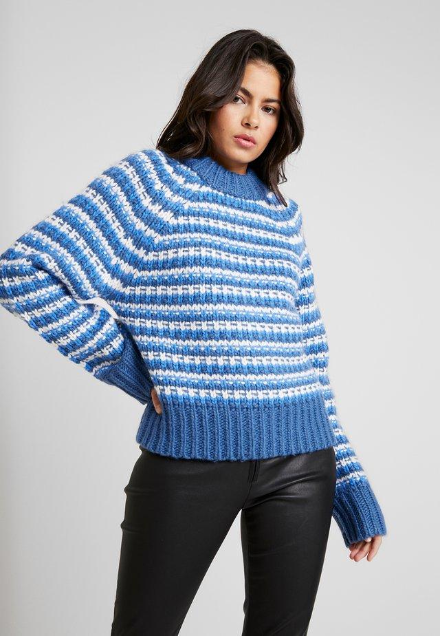BENNIE CREW NECK - Stickad tröja - dark blue