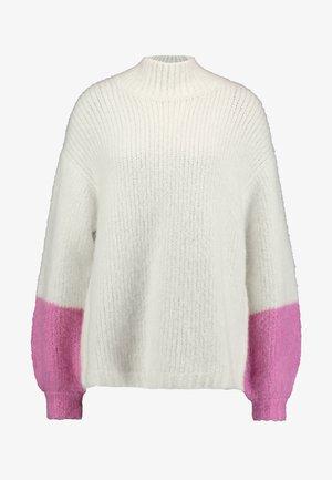 TESSA CREW NECK - Stickad tröja - clear cream
