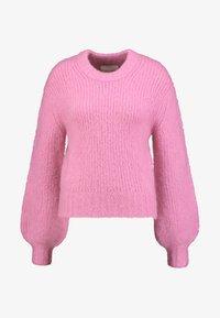 Samsøe Samsøe - ABBY CREW NECK - Strikkegenser - bubble gum pink - 4