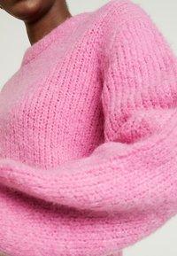 Samsøe Samsøe - ABBY CREW NECK - Trui - bubble gum pink - 5