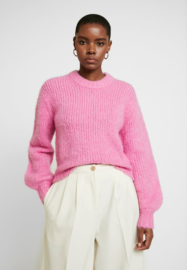 ABBY CREW NECK - Jumper - bubble gum pink