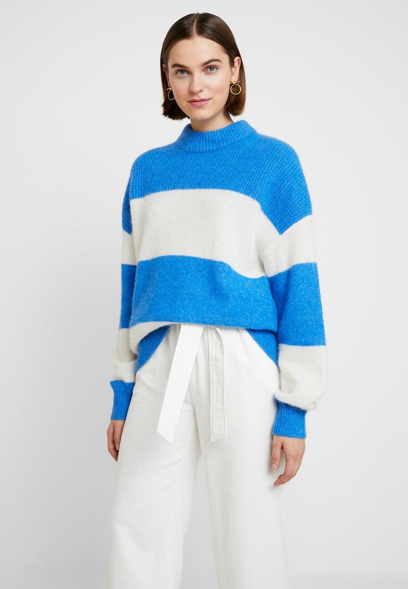 Samsøe Samsøe - RICKIE CREW NECK - Pullover - blue