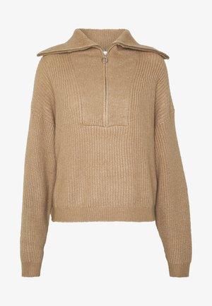 ZAIDA TURTLENECK - Pullover - nougat khaki
