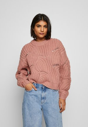 ALBERSSA CREW NECK - Jumper - cafe creme