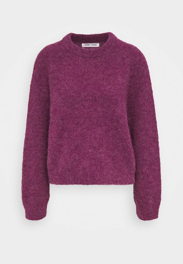 NETA CREW NECK - Strikkegenser - purple jasper