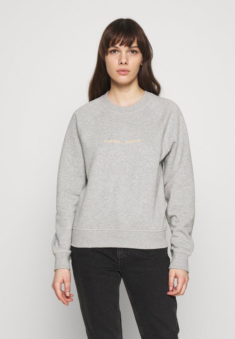 Samsøe Samsøe - BARLETTA CREW NECK - Sweatshirt - grey melange