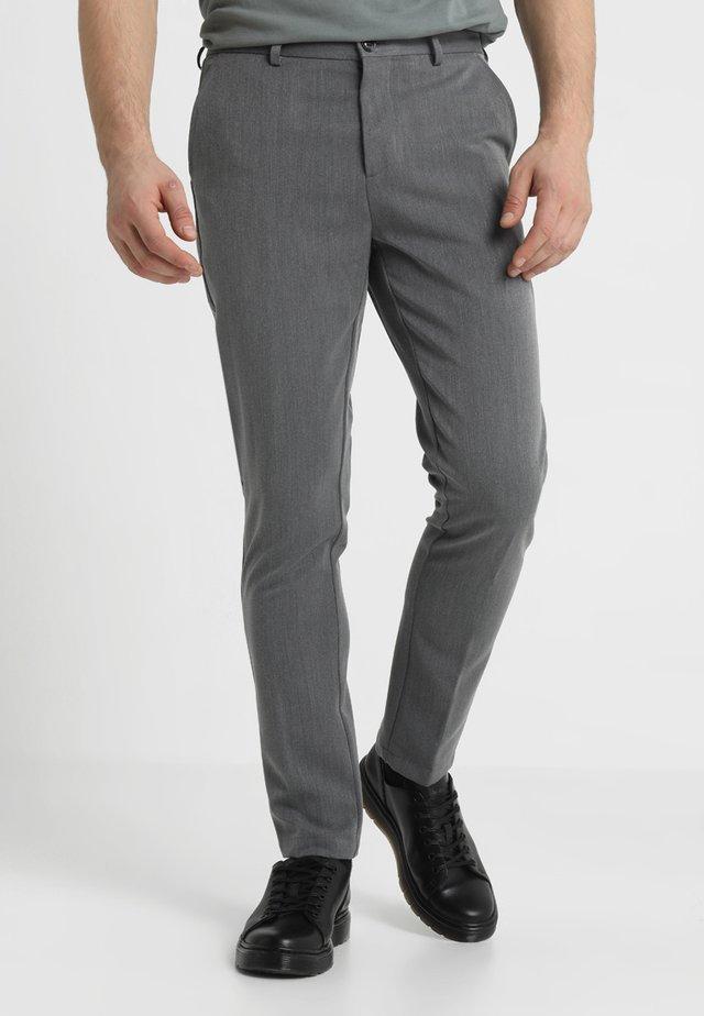 FRANKIE PANTS - Suit trousers - grey melange