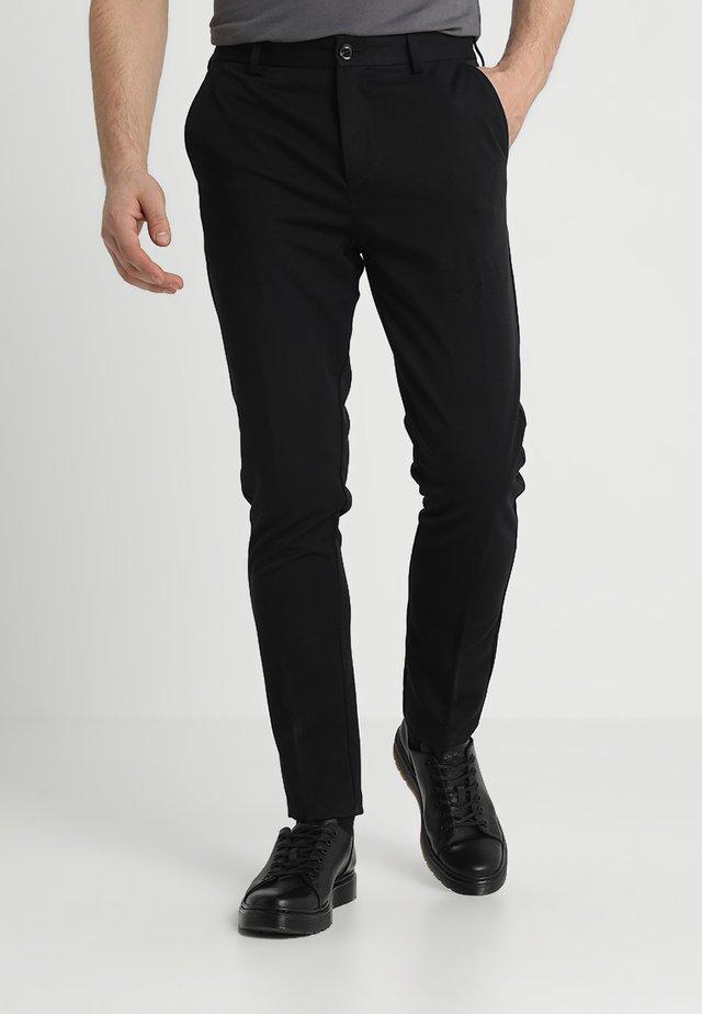 FRANKIE PANTS - Kostymbyxor - black