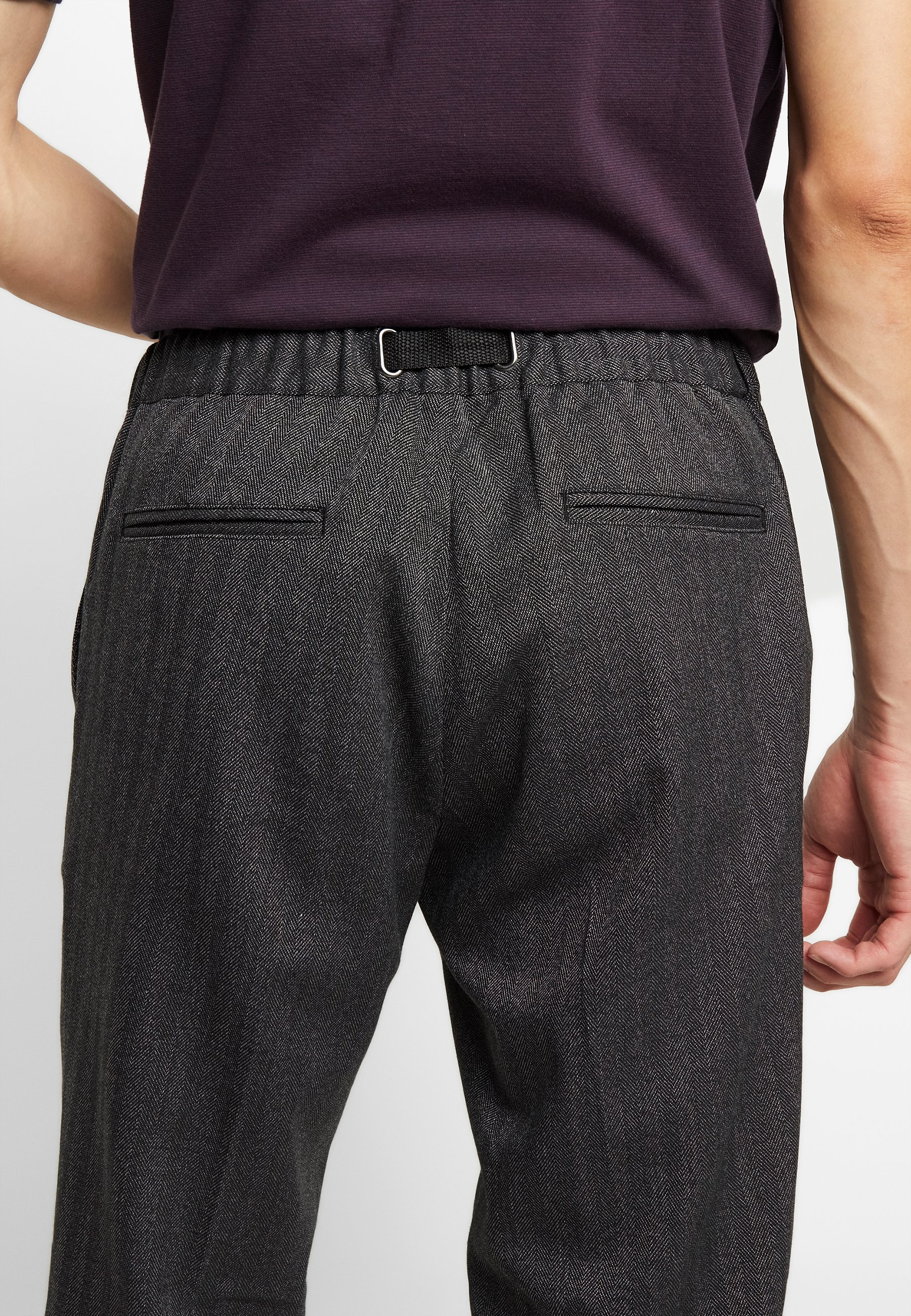 Samsøe Samsøe AGNAR TROUSERS - Pantaloni - grey melange