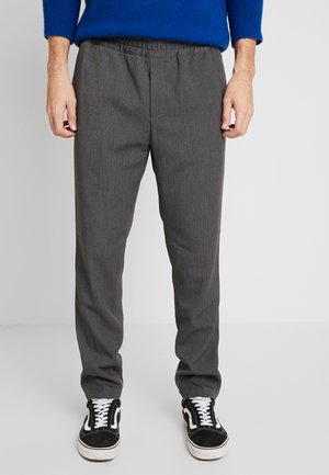 SMITHY TROUSERS - Tygbyxor - dark grey melange
