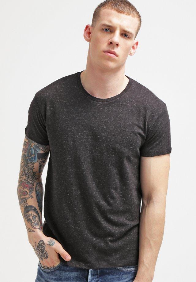 Basic T-shirt - black melange