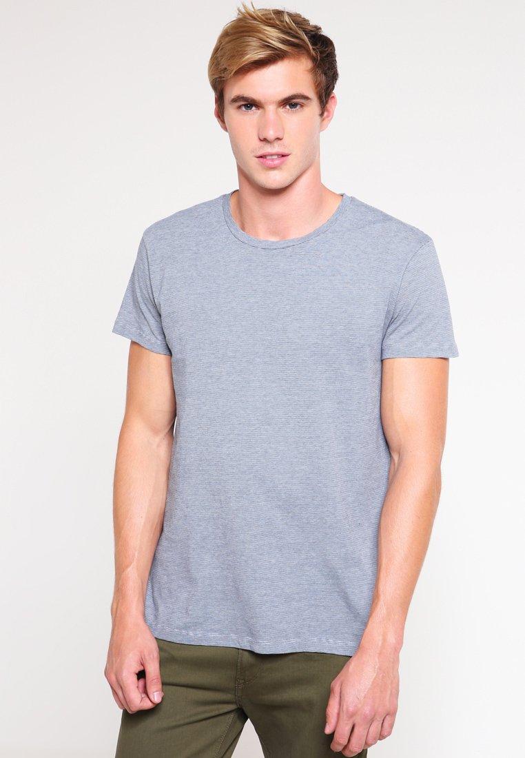 Samsøe Samsøe KRONOS - T-shirt z nadrukiem - blue blue cream