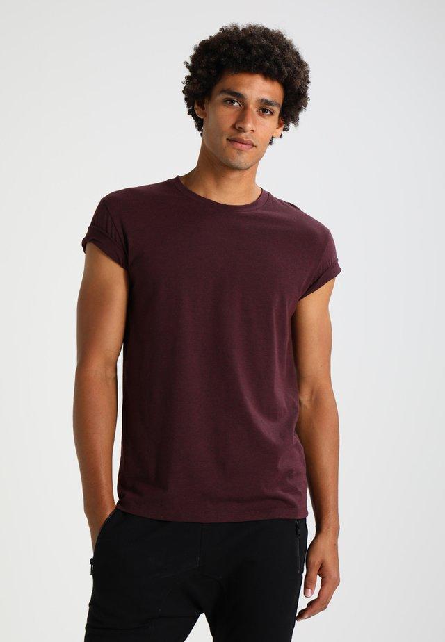 KRONOS  - T-Shirt basic - wine/black melange