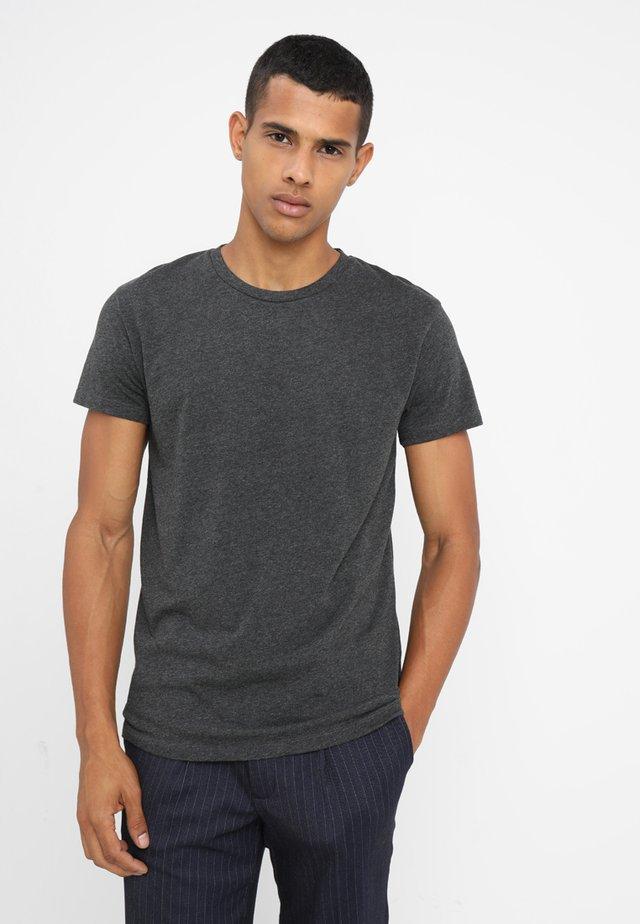 KRONOS  - Basic T-shirt - black melange