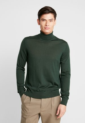 FLEMMING TURTLE NECK - Strikkegenser - deep forest