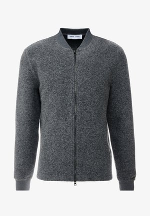 ALLARO ZIP  - Cardigan - dark grey melange