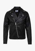 SPIKE JACKET  - Leather jacket - black
