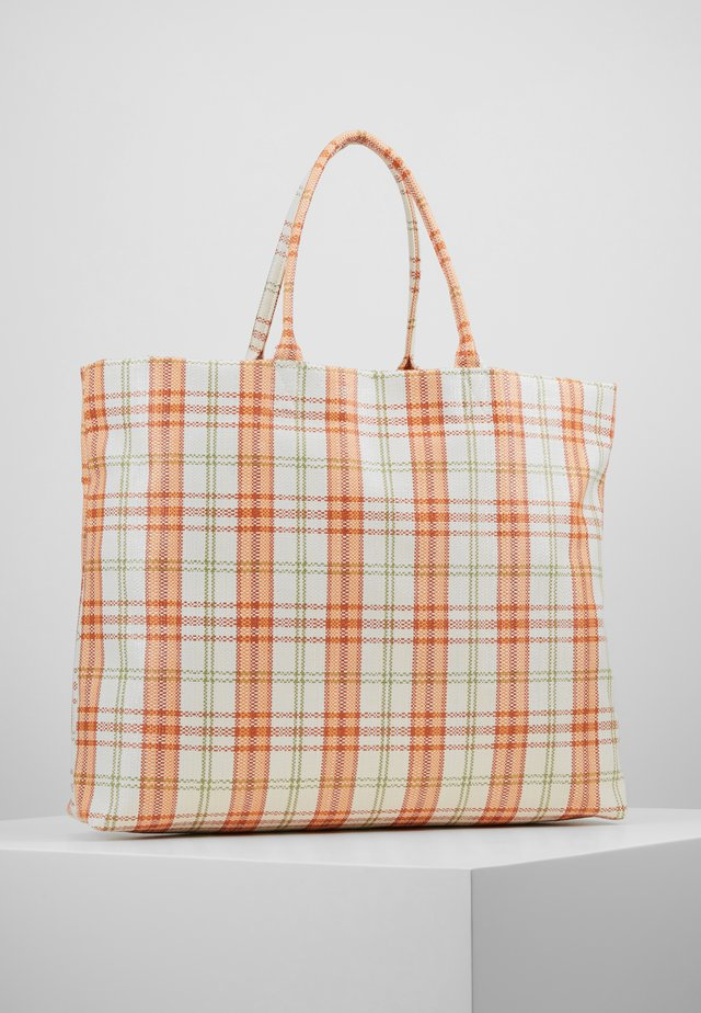 HALINA - Shoppingveske - white/orange