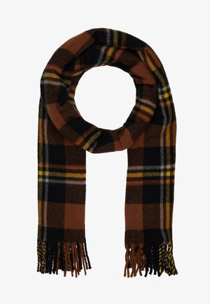EFIN CHECK SCARF - Scarf - brown