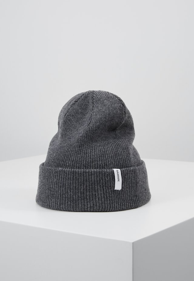 THE BEANIE - Beanie - dark grey melange