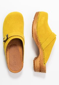 Sanita - HEDI OPEN - Træsko - yellow - 3