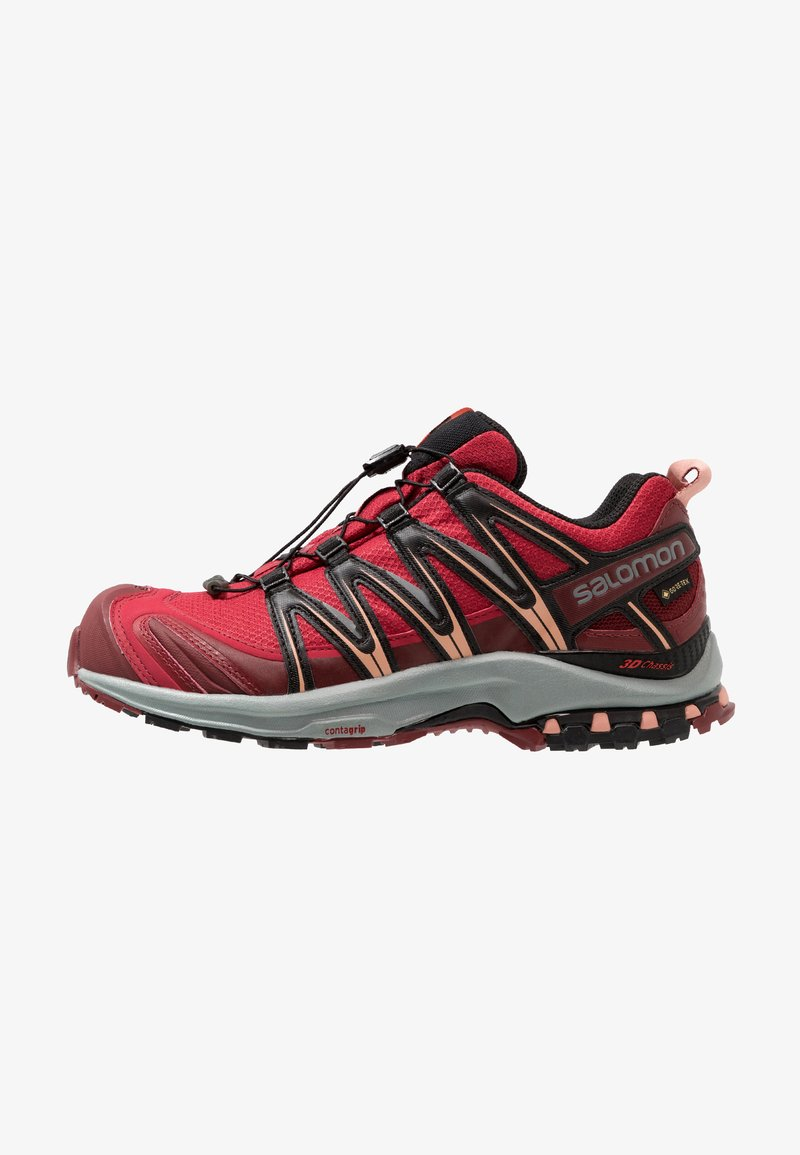 Salomon - XA PRO 3D GTX - Trail running shoes - deep claret/syrah/coral almond