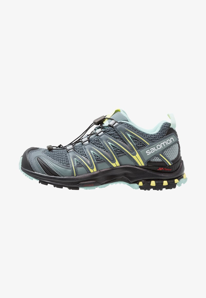 Salomon - XA PRO 3D - Trail running shoes - stormy weather/lead/eggshell blue