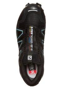 Salomon - SPEEDCROSS 4 GTX - Trail running shoes - black/metallic bubble blue - 4