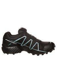 Salomon - SPEEDCROSS 4 GTX - Trail running shoes - black/metallic bubble blue - 3