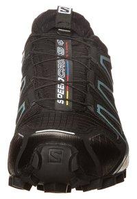 Salomon - SPEEDCROSS 4 GTX - Trail running shoes - black/metallic bubble blue - 2