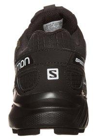 Salomon - SPEEDCROSS 4 GTX - Trail running shoes - black/metallic bubble blue - 1