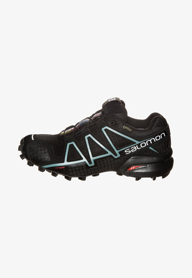 Salomon - SPEEDCROSS 4 GTX - Trail running shoes - black/metallic bubble blue