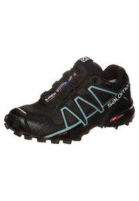 Salomon - SPEEDCROSS 4 GTX - Trail running shoes - black/metallic bubble blue - 6