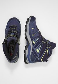Salomon - X ULTRA 3 MID GTX  - Hiking shoes - crown blue/evening blue/sunny lime - 1