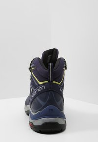 Salomon - X ULTRA 3 MID GTX  - Hiking shoes - crown blue/evening blue/sunny lime - 3