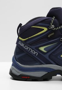 Salomon - X ULTRA 3 MID GTX  - Hiking shoes - crown blue/evening blue/sunny lime - 5