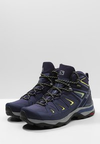 Salomon - X ULTRA 3 MID GTX  - Hiking shoes - crown blue/evening blue/sunny lime - 2