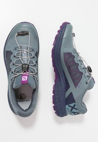 Salomon - XA ELEVATE - Obuwie do biegania Szlak - stormy weather/evening blue/purple magic - 1