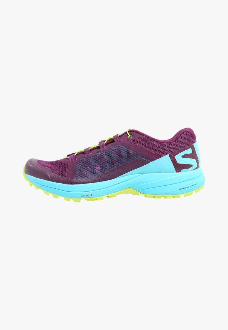 Salomon - XA ELEVATE - Laufschuh Trail - dark purple/blue curacao/acid lime