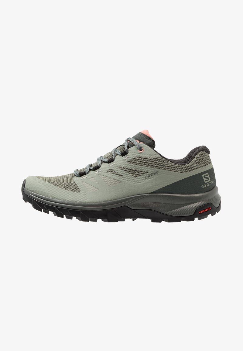 Salomon - OUTLINE GTX - Hiking shoes - shadow/urban chic/coral almond